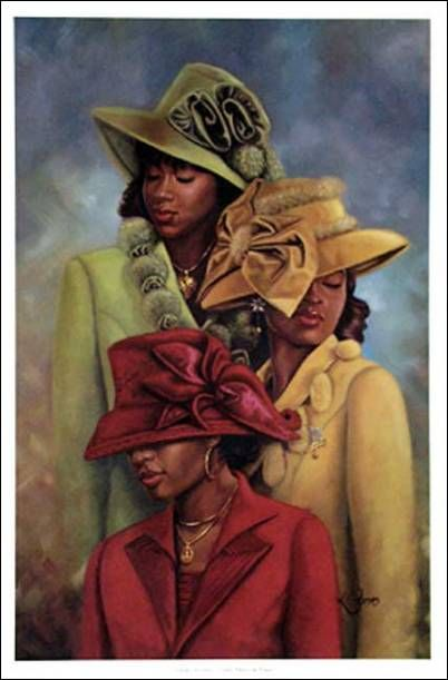 African American Church Bulletin Covers Miss Women Wearing Hats
