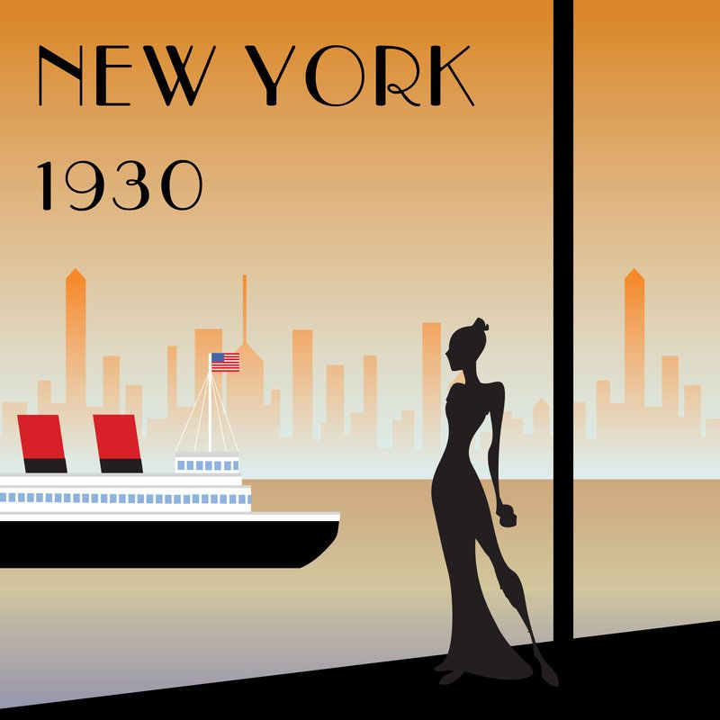 Art Deco Posters: Art Deco Poster Concept 1 By