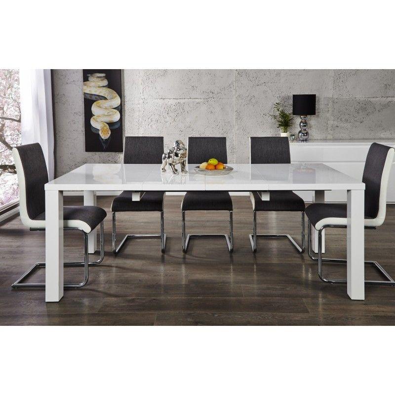 Eettafel Modern Wit.Eettafel Lucente Hoogglans Wit 120 200cm 19900 In 2019