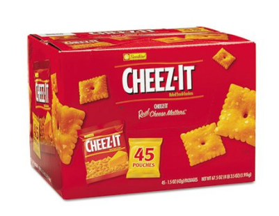 45ct Case Of Cheezit Crackers Just 20 59 Free Shipping Cheez It Crackers Snacks