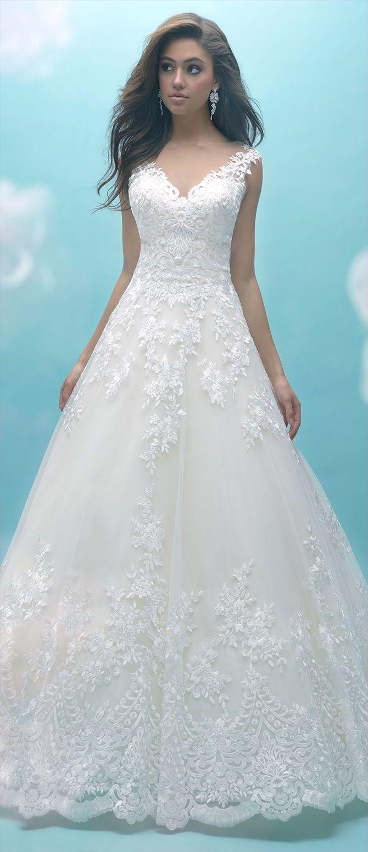Allure Bridals Fall 2017 Wedding Dresses | Lace applique, Hemline ...