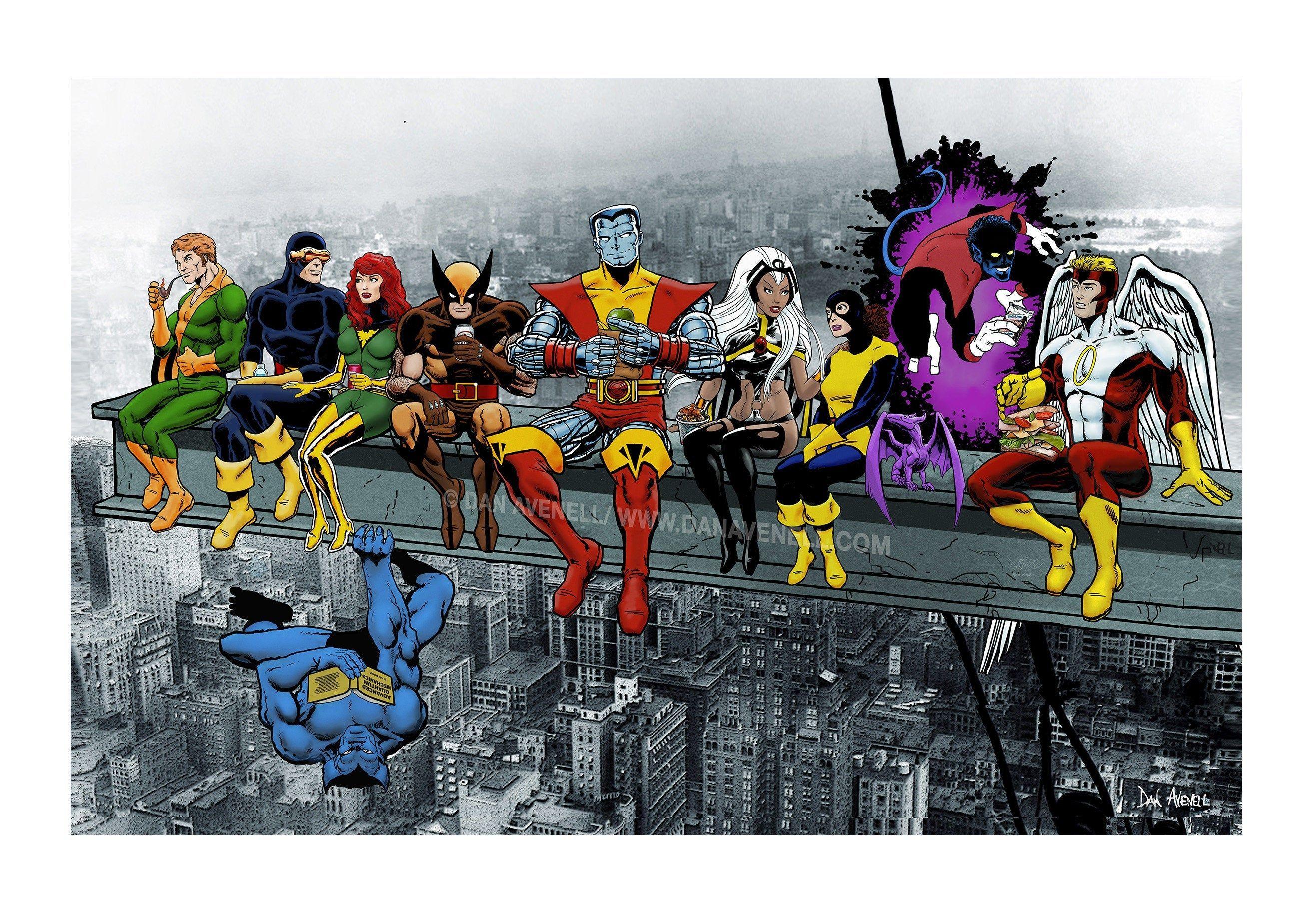 MARVEL SUPER-HEROES AVENGERS-DEFENDERS-X-MEN GROUP POSTER PIN UP