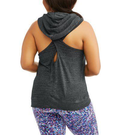 13652e24358 Plus Size Women s Plus Burnout Active Sleeveless Hoodie