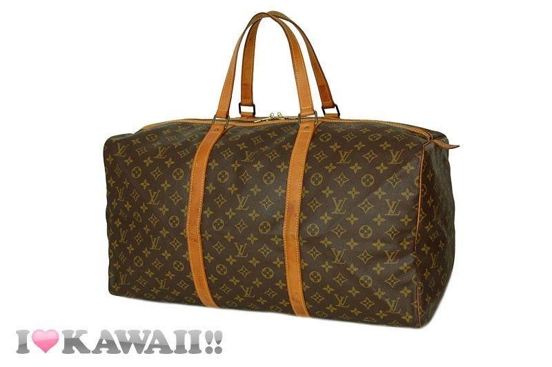 Auth Louis Vuitton Monogram Sac Souple 55 Bag Boston Travel Free Shipping! #LouisVuitton #BostonBag