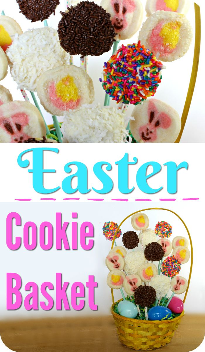 Super cute idea for bunny and chick cookie easter basket great for super cute idea for bunny and chick cookie easter basket great for giving as a negle Image collections
