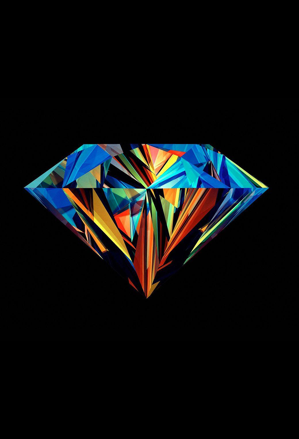 Colorful polygon in the diamond HD wallpaper