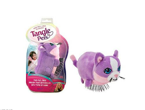 Tangle Pets Hair Brush for Little Girls Cupcake the Cat