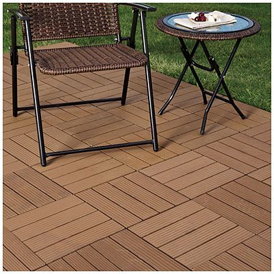 Delightful Interlocking Polywood Deck U0026 Patio Tiles, 10 Pack For $24.99 @ Big Lots