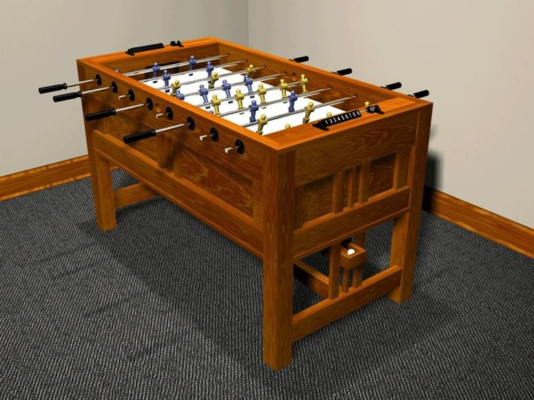 Foosball Table Plans Furniture Plans