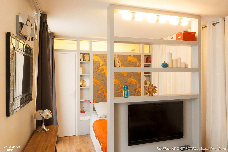 Studio dorchampt 20m2 d 39 ultra confort paris ma ma - Architecte interieur paris petite surface ...
