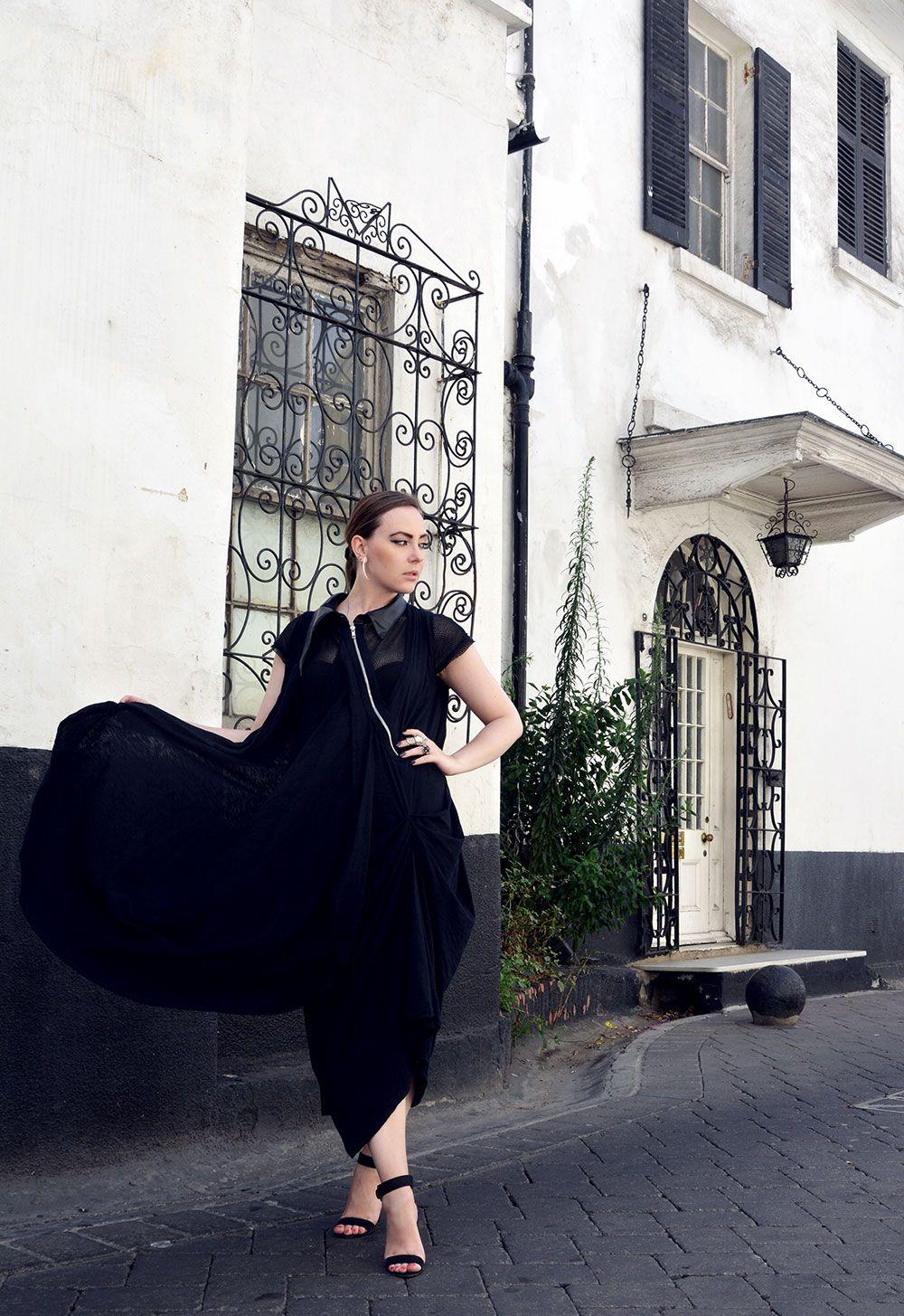 Loose Black Stage Dress by METAMORPHOZA