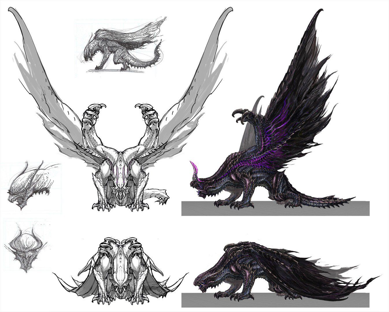 monster hunter concept sketches - Google Search