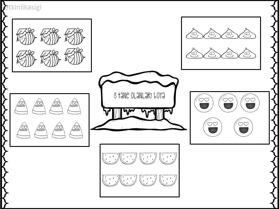 8 Rakami Calisma Sayfasi Matematik Faaliyetler Okul