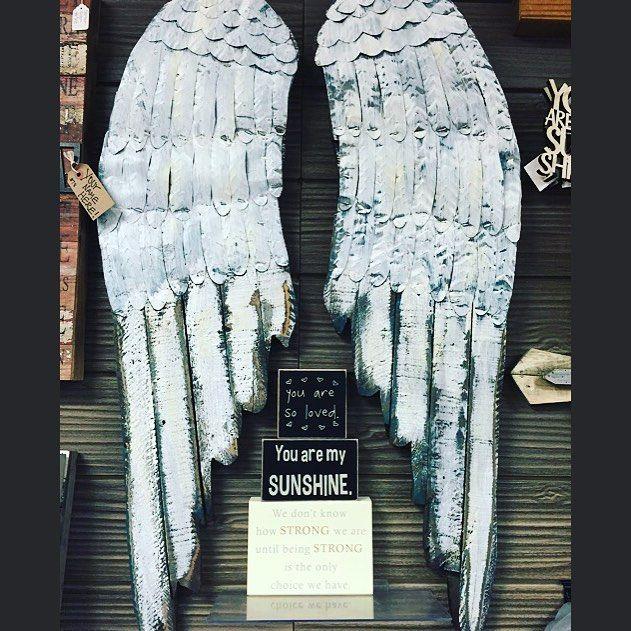 Our fav angel wings are back in stock!👼🏼 #angel #angelwings #homedecor #giftednj