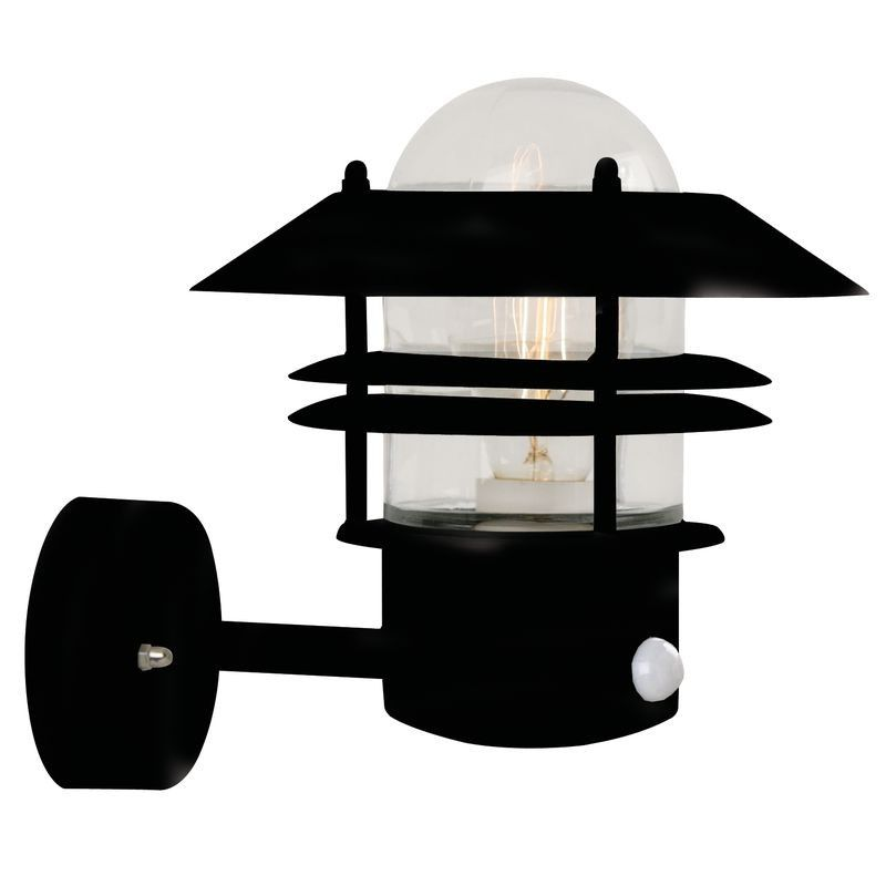 nordlux blokhus up wall light w sensor black nordlux outdoor