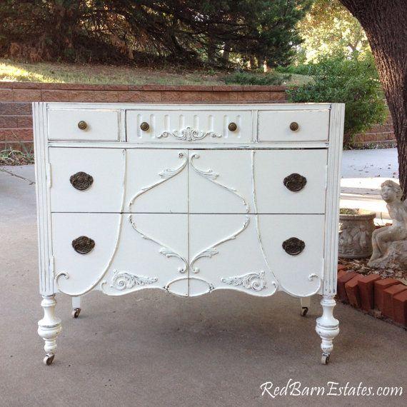 Antique BATHROOM VANITY Dresser Custom Found & Converted To Your Specs -  Painted Bath Dresser Shabby Chic Vanities - 48