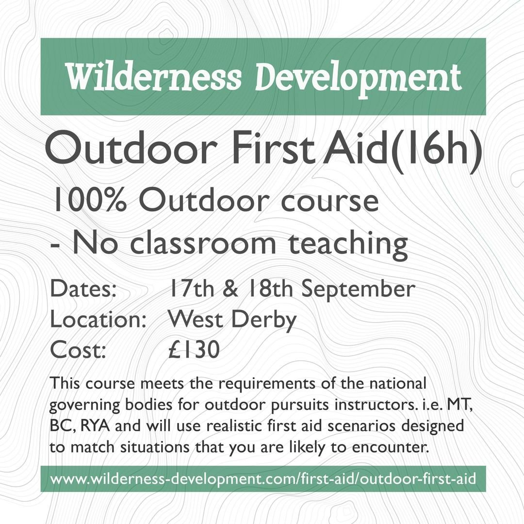 Course Outdoor First aid 16h Suitable for anyone with
