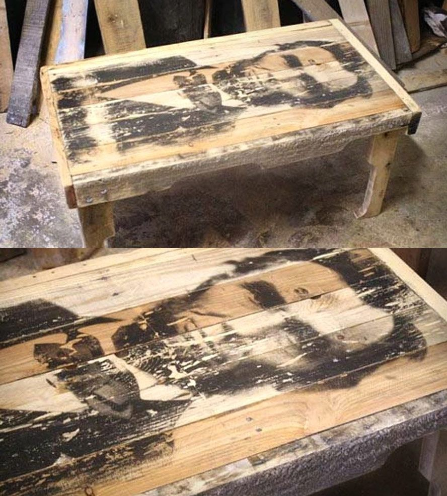 Abraham Lincoln Reclaimed Wood Coffee Table