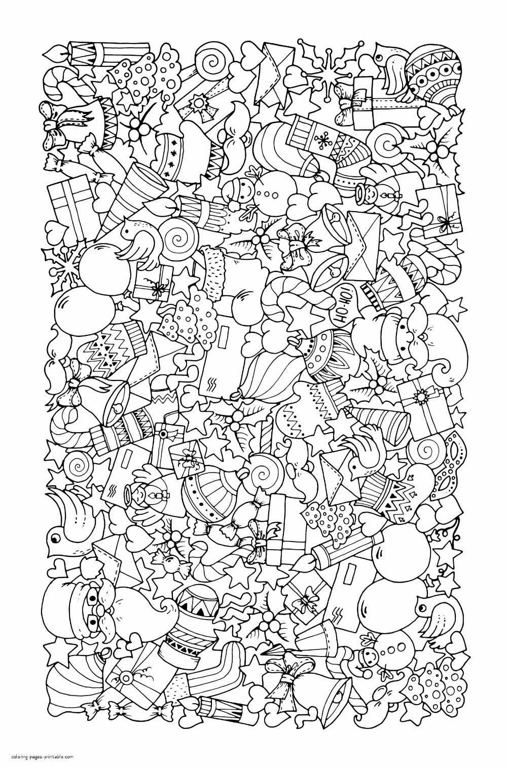 Christmas Doodle Coloring Sheet For Adults Christmas Pictures Printable Christmas Coloring Pages Christmas Coloring Printables Merry Christmas Coloring Pages
