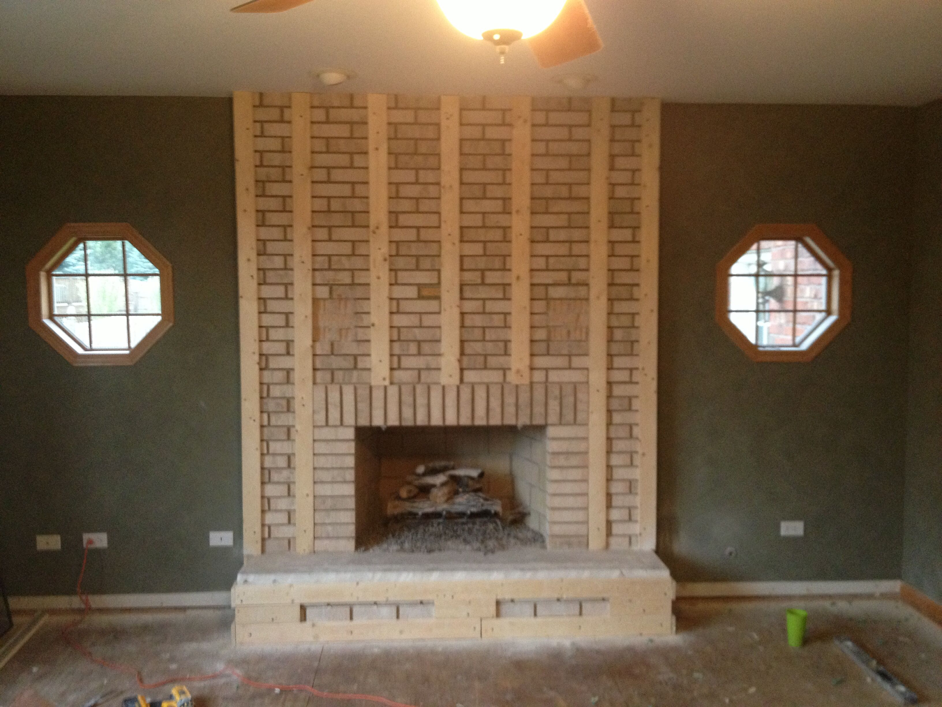Pin On Step By Step Fireplace Remodel