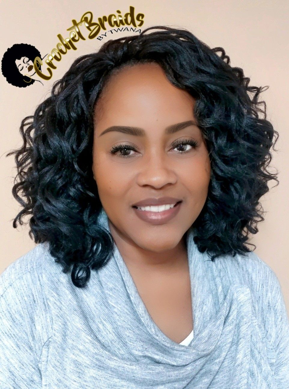 My Lovely Client In Crochet Braids Featuring A Mix Of Kima Ripple