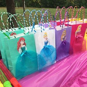 10 Pieces Princess Sofia the First Birthday Tutu Favor Goody Gift Paper Bags Purple #disneyprincess