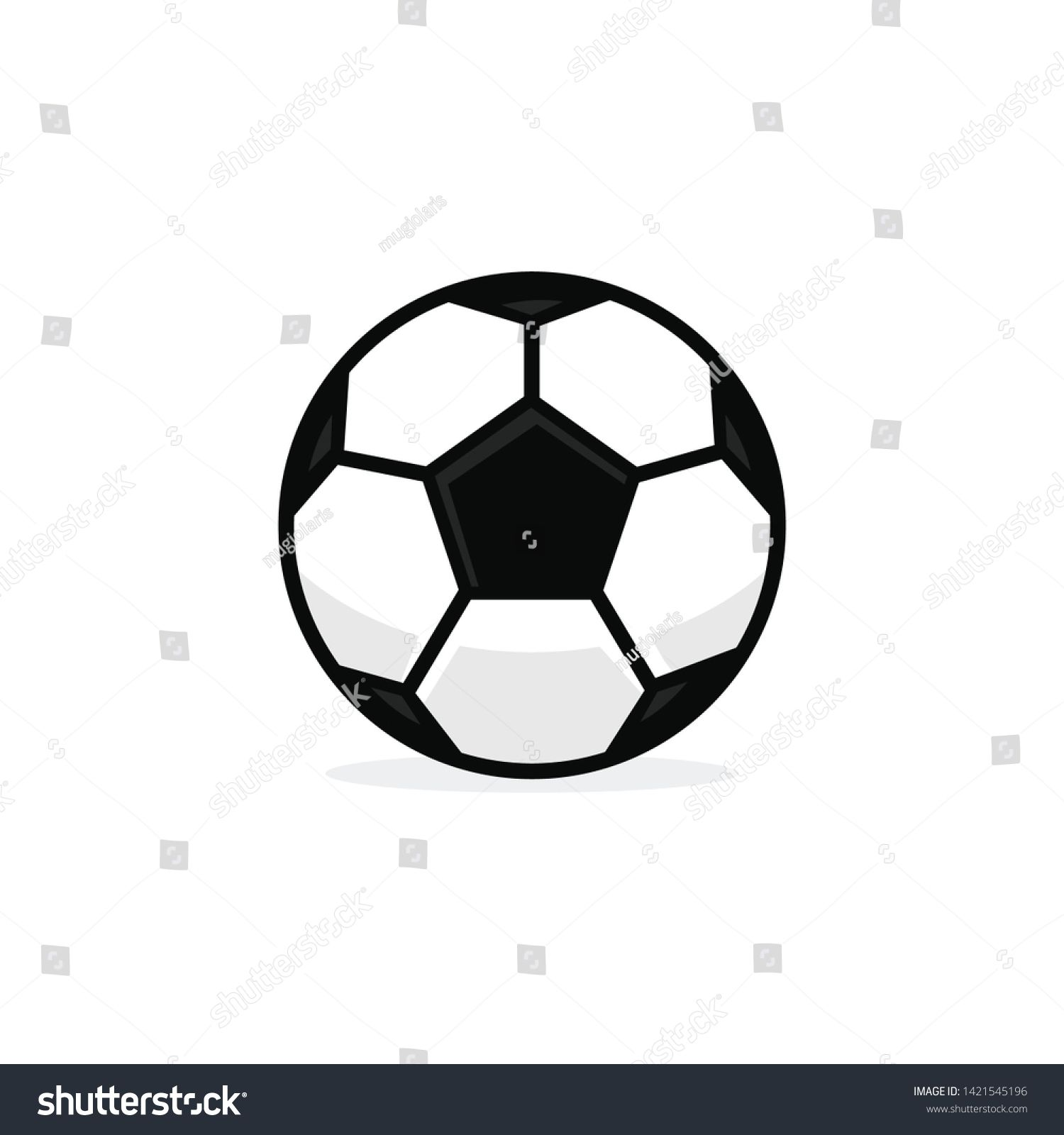 Football Ball Soccer Ball Vector Template Illustration Sponsored Sponsored Soccer Ball Football Illustrat Soccer Ball Football Ball Football Illustration