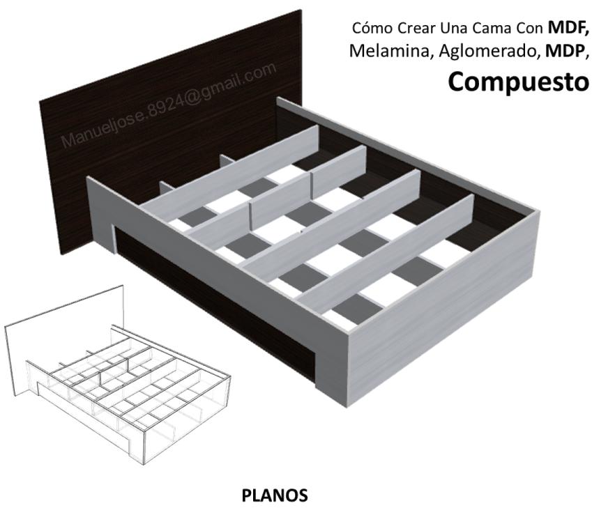 Diseño De Muebles Madera: Cómo Crear Una Cama Con MDF, Melamina ...