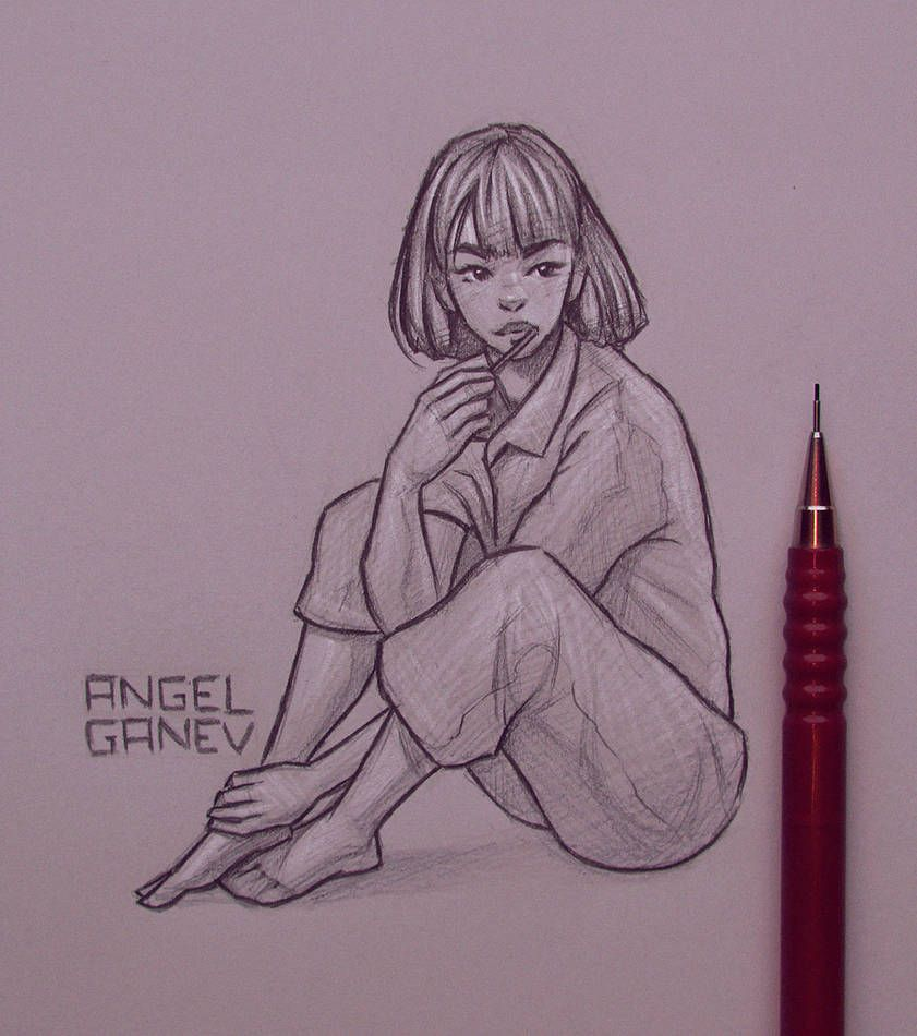 Laci Day 165 By Angelganev Girl Drawing Sketches Anime Drawings Sketches Cute Drawings
