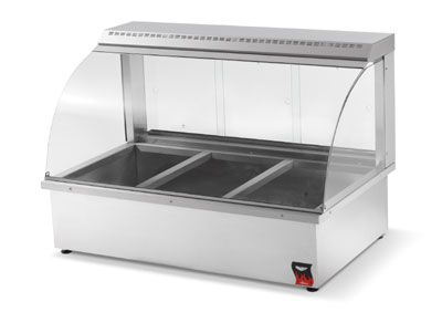 Vollrath Hot Food Bar Counter Top 40732 Hot Food Bar Counter Top 43 W Service Type Curved Glass Design Wet Or Dry Hot Meals Food Retail Display Case