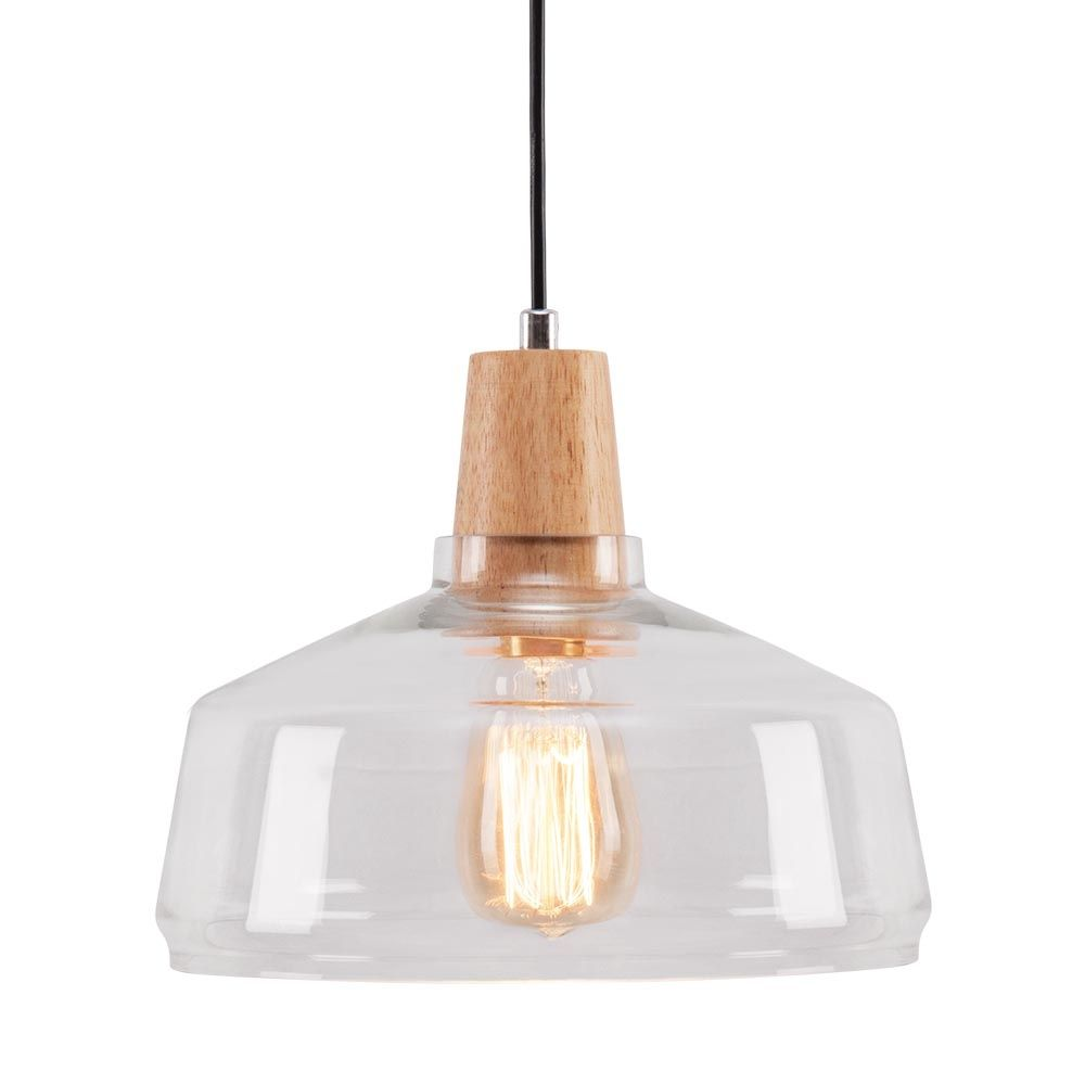 Cult living aalborg dome pendant light wood clear lighting