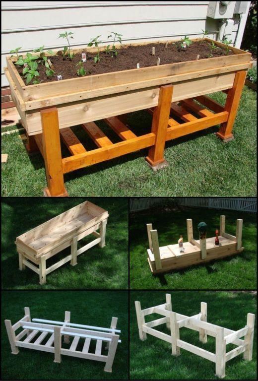 Diy waist high planter box great ideas garden raised - Waist high raised garden bed plans ...