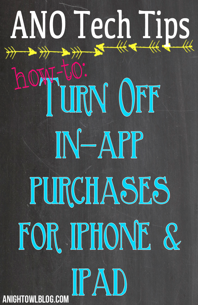 How to Turn Off InApp Purchases App, Ipad, Mobile