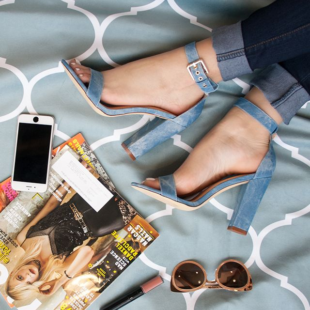 These heels aren't actually denim, but they're definitely denim by design...