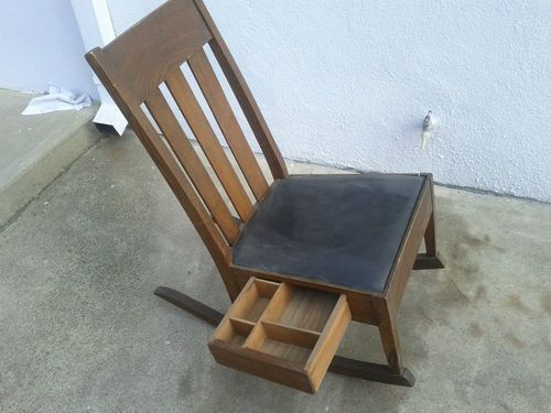 Antique Mission Oak Sewing Rocker with Drawer Rocking Chair | eBay - Antique Mission Oak Sewing Rocker With Drawer Rocking Chair EBay
