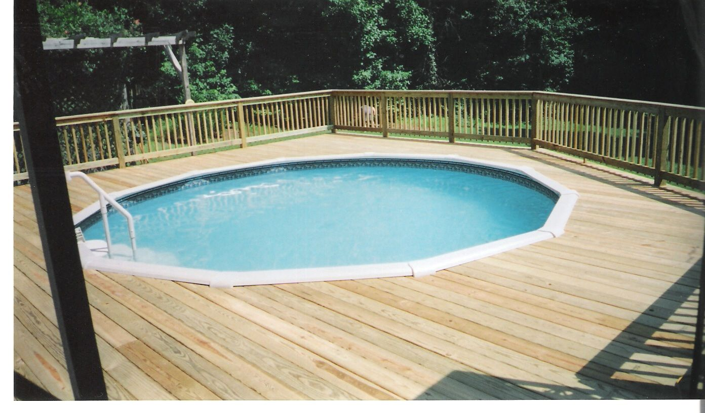Deck pic ideass for above ground swiming pool pic ide roselawnlutheran - Above ground composite pool deck ...