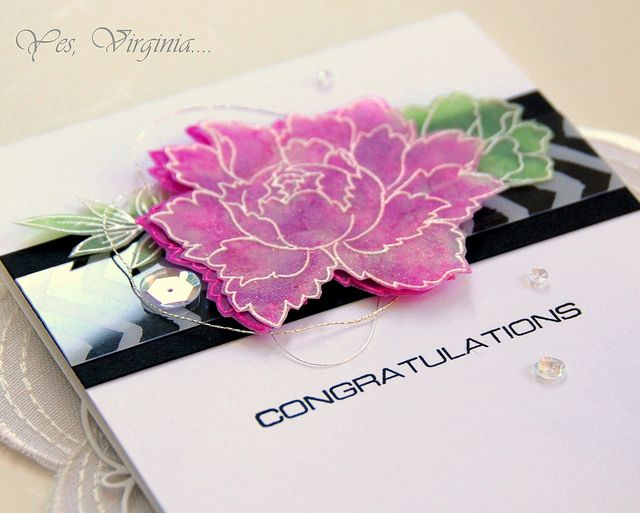 Yes, Virginia...: Vibrant Floral Cards with Alcohol Inks with a VIDE...