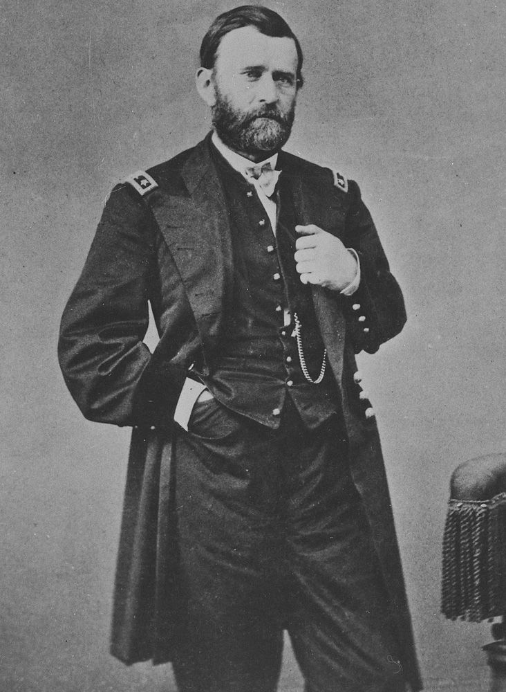 Ulysses S. Grant in a photograph by Mathew Brady.