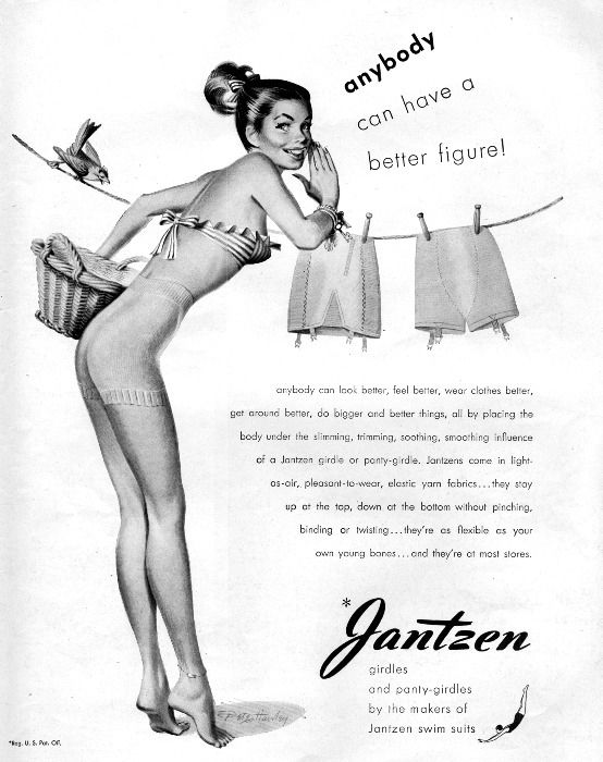 4d46a652e5b Enter The Strange World Of Vintage Lingerie Ads