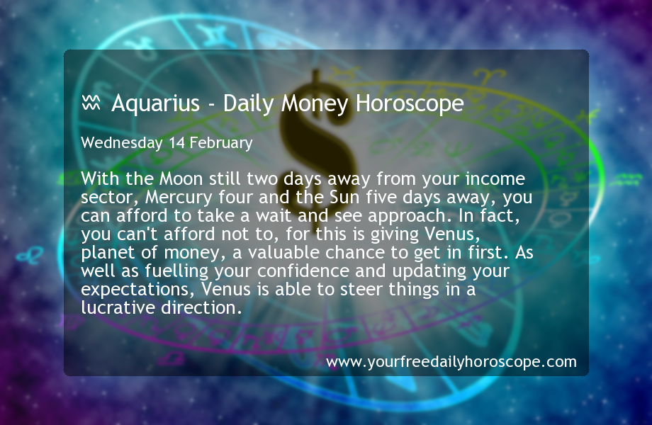 todays money horoscope for aquarius