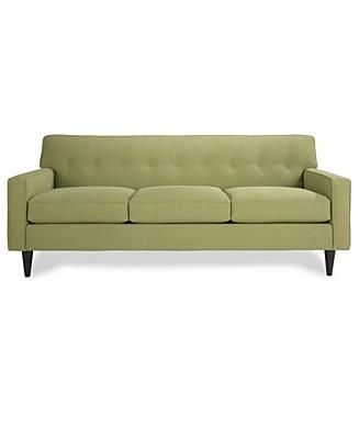 I Love This Green Couch From Macy S Sofa Green Sofa Furniture