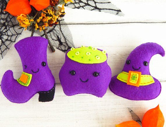 Halloween ornaments Witch hat Hat of Witch Cute Halloween ornaments