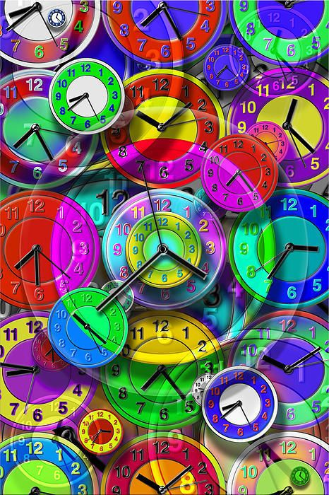 Faces of Time 1 Art Print