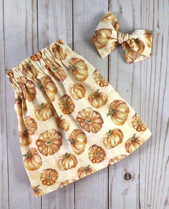 Pumpkin Patch skirts | Toddler skirt | Fall skirt for toddler | School photos outfit | Handmade skir #pumpkinpatchoutfit