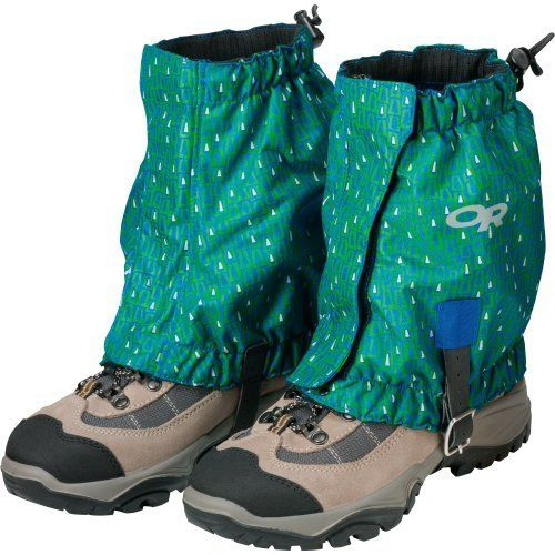 Outdoor Research Kid's Trailhead Gaiters, Glacier, One Size (727602259505) Water Resistant and Breathable 1/2-Inch Wide Hook/Loop Front Closure Elastic Top and Bottom Edges Hypalon Instep Strap Single Riveted Boot Lace Hook