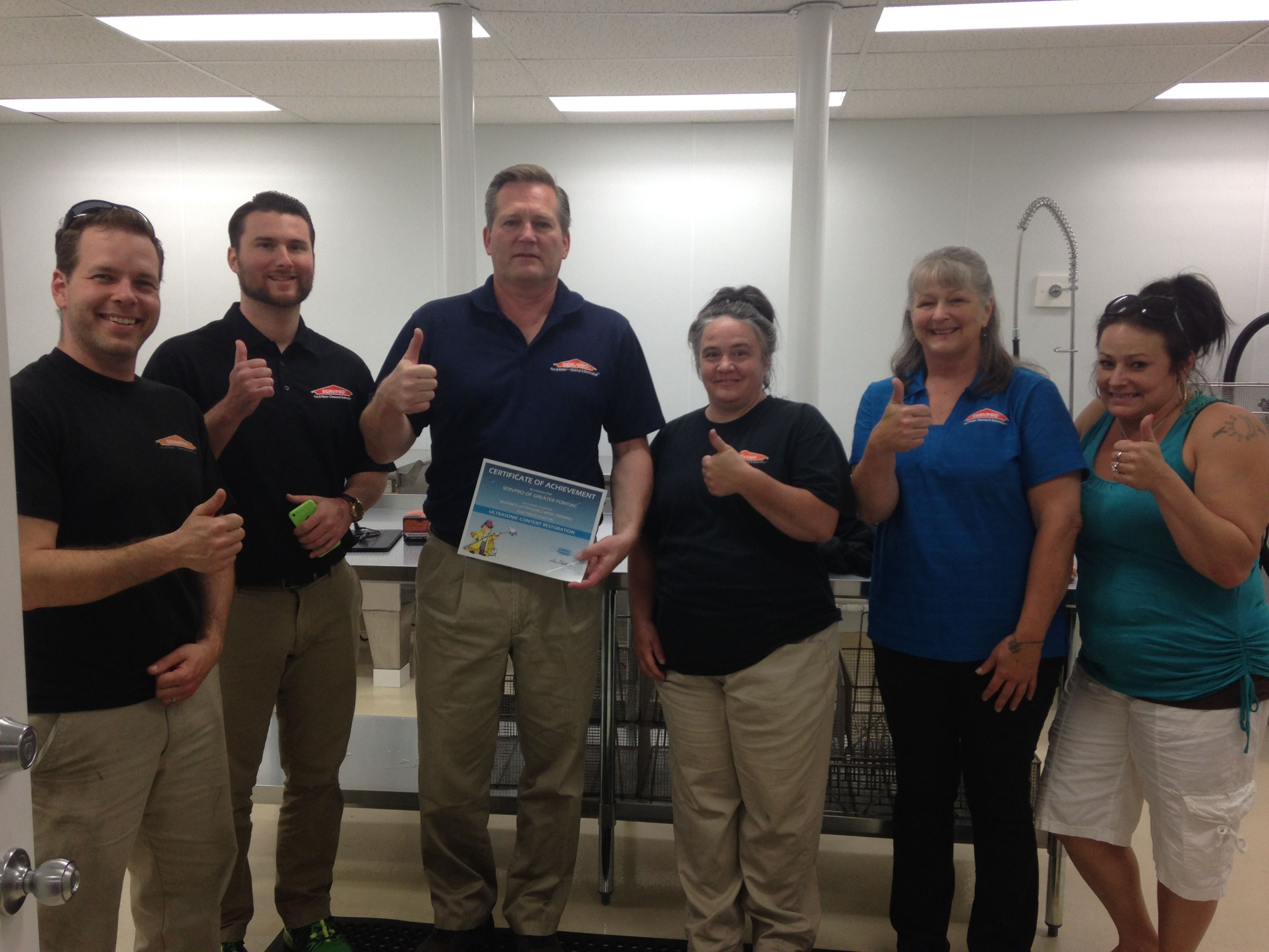 Servpro Of Greater Pontiac Gives Morantz The Quot Thumbs Up Quot