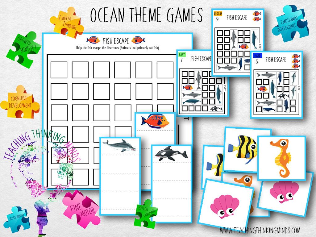 Excited To Share The Latest Addition To My Etsy Shop Ocean Theme Printable Educational Board Game To Deve Theme Activity Ocean Themes Educational Board Games Addition board game printable