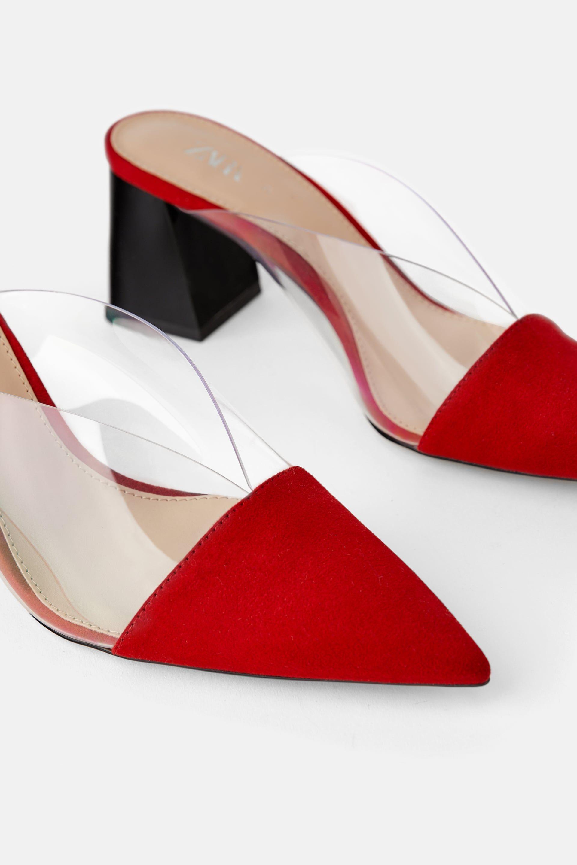 HIGH HEELED VINYL MULE - High heels