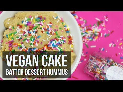 Vegan Cake Batter Dessert Hummus #desserthummus A while back we dove into the world of dessert hummus with a chocolate version that reminded us of brownie batter. So much so, it was devoured very quickly by... #desserthummus