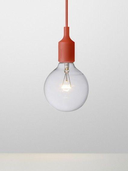 Red E 27 - Socket Lamp - by Mattias Ståhlbom